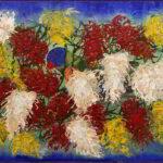 Redland Yurara Art Society - 'Grevillia Feast' - Raija Jantti - Acrylic on Serving Tray - Painting - Art Exhibition - Florals