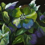 Redland Yurara Art Society - 'Lenten Rose with Easel' - Gloria Dietz-Kiebron - Acrylic - Painting - Art Exhibition - Florals