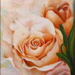 Redland Yurara Art Society - 'Roses' - Sharon Lesley Shaw - Acrylic - Painting - Art Exhibition - Florals