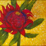 Redland Yurara Art Society - 'Waratah' - Tarja Rantala - Acrylic - Painting - Art Exhibition - Florals